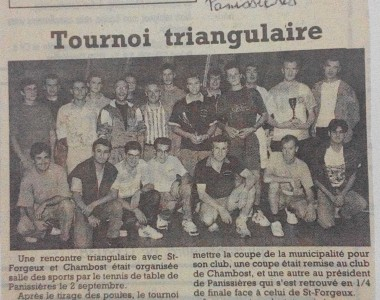 Septembre 1995 : Première triangulaire