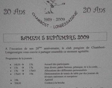 2009 : Le CPCL fête ses 20ans